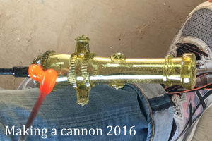 Velzeke 2016 - Making a 17th century cannon