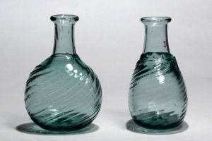 Oval Wrythen Flasks